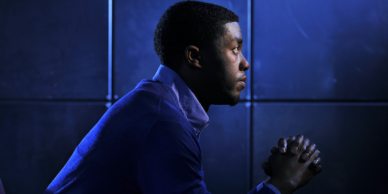 Chadwick boseman header wallpaper blue