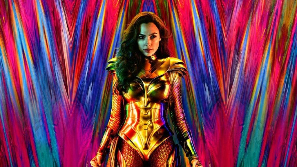 Wonder Woman 1984 Gal Gadot colourful header in golden armour